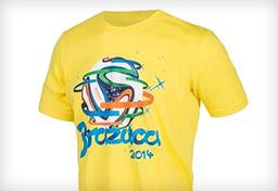 2014巴西世界杯adidas纪念T恤
