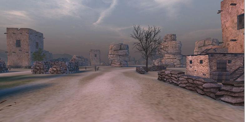 坦克射击游戏场景
